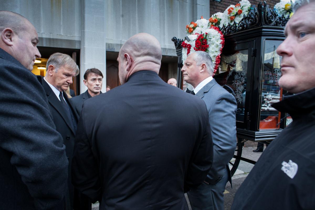 Funeral of Danny Woollard, East End gangster.