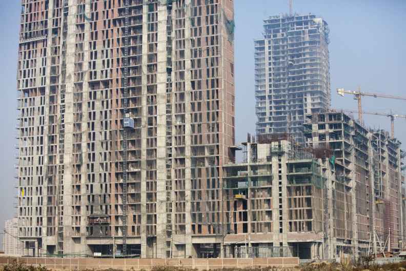 Donkeys building sites India Delhi