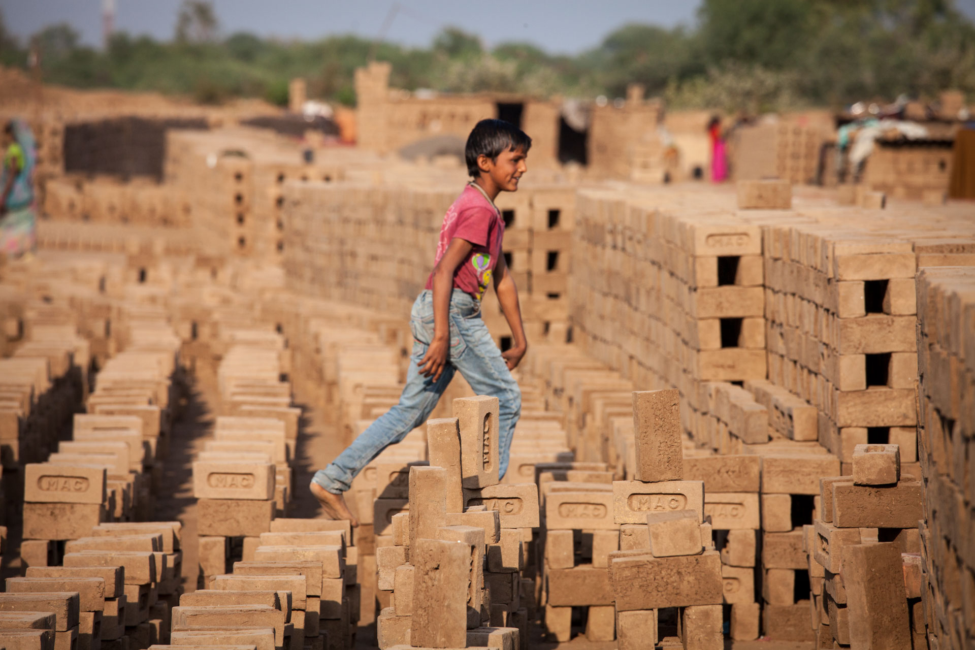 Arjun, brick kiln boy, Gujarat, India