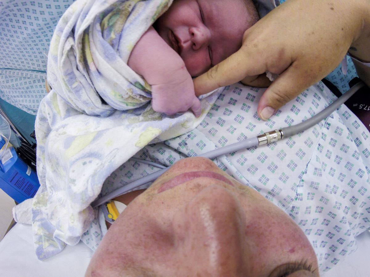 Caesarean birth. Anaesthetist.
