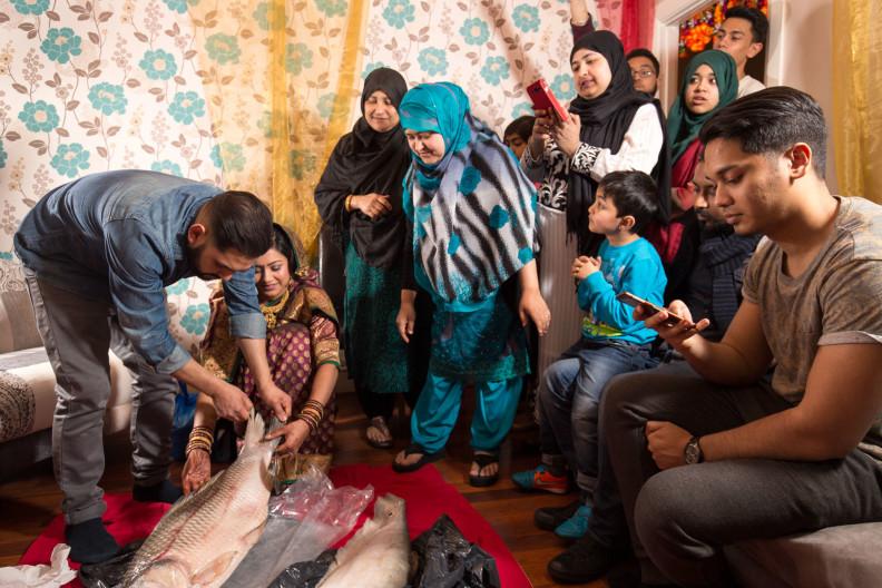 London Bangladeshi wedding. Bride Feast