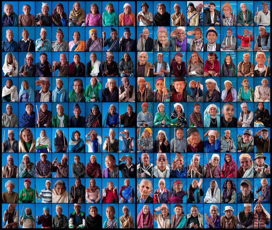 Gurkha portraits grid. Nepal
