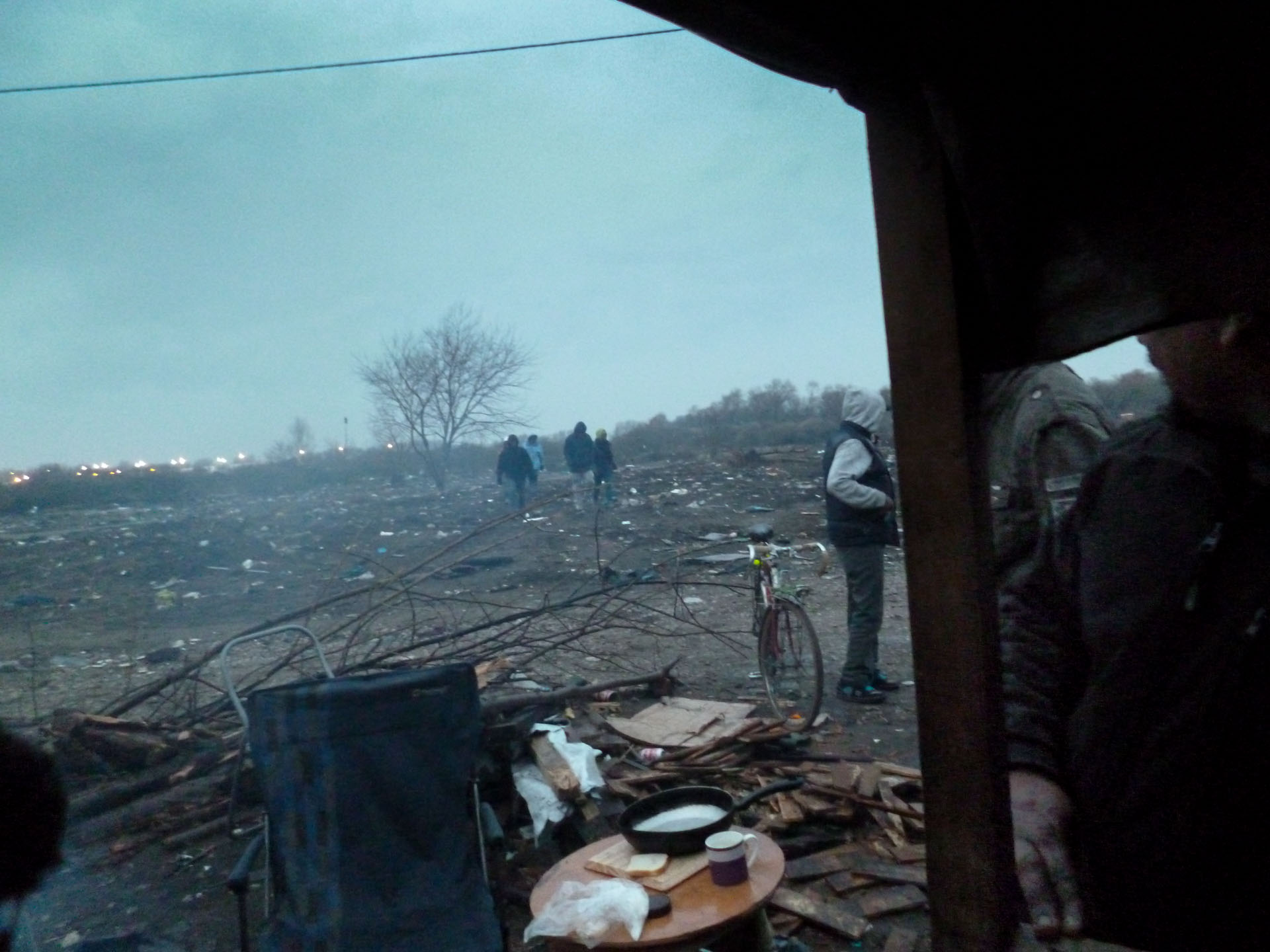 Calais 'Jungle' photographed by 18 year old refugee Esyas ( name changed).